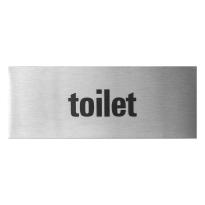 RVS deurbordje 'Toilet' rechthoekig