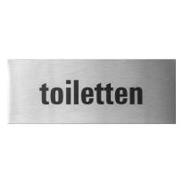 RVS deurbordje 'Toiletten' rechthoekig