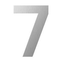 RVS huisnummer 7 plat, 150 mm