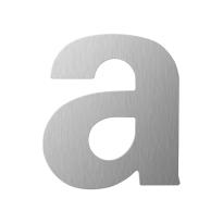 RVS huisnummer letter 'A' plat, 110 mm