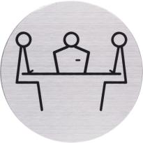 RVS pictogram 'Spreekruimte' rond