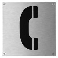 RVS pictogram 'Telefoon' vierkant