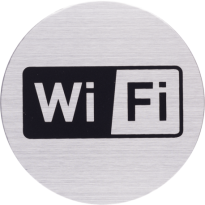 RVS pictogram 'Wifi' rond