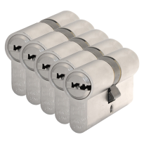 S2 antikerntrek veiligheidscilinders F6 gelijksluitend per 5, 30/30