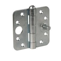 Scharnier ronde hoek Ivana zilver veiligheidsuitvoering 89x89 mm