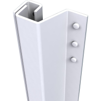 Secu SecuStrip Plus buitendraaiend wit, 2300mm, terugligging 0-6mm