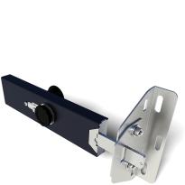 SecuMax garagedeurbeveiliging sectionaal, cilinder buiten en knop binnen, staal