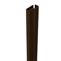 SecuStrip Plus binnendraaiend bruin, 2050mm, terugligging 0-0mm