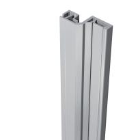 SecuStrip Style buitendraaiend aluminium, 2500mm, terugligging 18-20mm