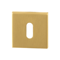 Sleutelrozet GPF0901.02P4 50x50x8mm PVD mat messing