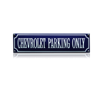 SS-15 emaille straatnaambord 'Chevrolet parking only'