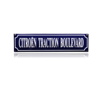 SS-19 emaille straatnaambord 'Citroen Traction Boulevard'