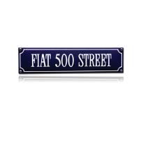 SS-28 emaille straatnaambord 'Fiat 500 Street'