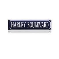 SS-33 emaille straatnaambord 'Harley Boulevard'