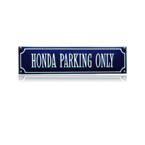 SS-39 emaille straatnaambord 'Honda parking only'