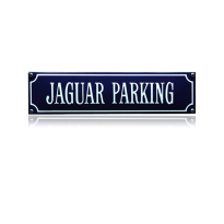 SS-43 emaille straatnaambord 'Jaguar parking'
