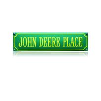 SS-46 emaille straatnaambord 'John Deere place'