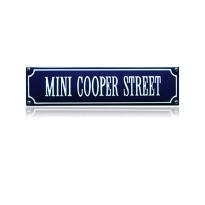 SS-60 emaille straatnaambord 'Mini cooper street'