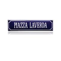 SS-70 emaille straatnaambord 'Piazza Laverda'