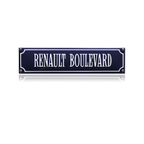 SS-76 emaille straatnaambord 'Renault Boulevard'