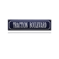 SS-86 emaille straatnaambord 'Traction Boulevard'