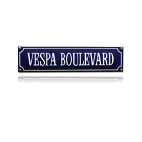 SS-90 emaille straatnaambord 'Vespa Boulevard'