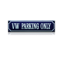 SS-94 emaille straatnaambord 'VW parking only'