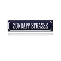 SS-95 emaille straatnaambord 'Zündapp Strasse'