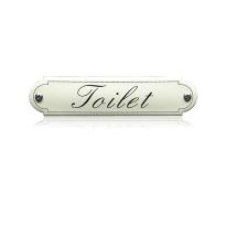 'Toilet' emaille toilet bordje gebold klassiek
