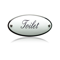 'Toilet' emaille toilet bordje ovaal