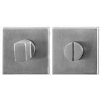 Toiletgarnituur GPF0904.02 50x50x8mm stift 5mm RVS geborsteld