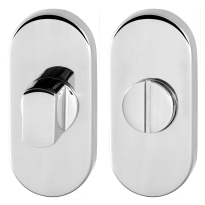 Toiletgarnituur GPF0904.44 70x32mm stift 5mm RVS gepolijst