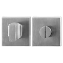 Toiletgarnituur GPF0910.02 50x50x8mm stift 8mm RVS geborsteld grote knop