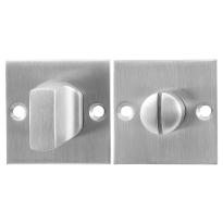 Toiletgarnituur GPF0910.08 50x50x2mm stift 8mm RVS geborsteld grote knop