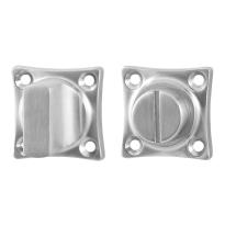 Toiletgarnituur GPF0911.09 38x38x5mm stift 5mm RVS geborsteld grote knop
