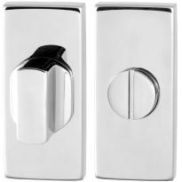 Toiletgarnituur GPF0911.41 70x32mm stift 5mm RVS gepolijst grote knop