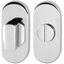 Toiletgarnituur GPF0911.44 70x32mm stift 5mm RVS gepolijst grote knop