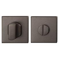 Toiletgarnituur GPF1102.A1.0910 50x50x8 mm stift 8 mm Dark blend grote knop