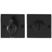 Toiletgarnituur GPF6910.08 52x52x4mm stift 8mm smeedijzer zwart