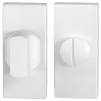 Toiletgarnituur GPF8910.41 70x32mm stift 8mm wit grote knop