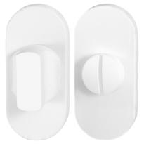 Toiletgarnituur GPF8910.44 70x32mm stift 8mm wit grote knop