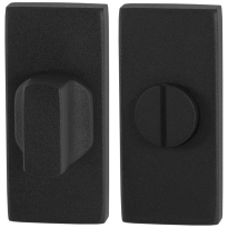Toiletgarnituur GPF8911.01 70x32mm stift 5mm zwart grote knop
