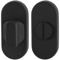 Toiletgarnituur GPF8911.04 70x32mm stift 5mm zwart grote knop