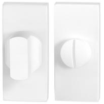 Toiletgarnituur GPF8911.41 70x32mm stift 5mm wit grote knop