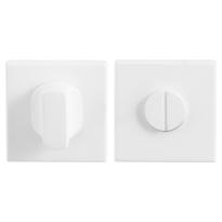Toiletgarnituur GPF8911.42 50x50x8mm stift 5mm wit grote knop