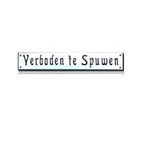 TR-24 emaille trein en tram bord 'Verboden te Spuwen'