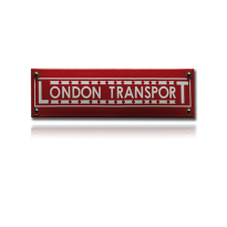 TR-31 emaille trein en tram bord 'London transport'