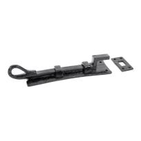 Wardlo deurschuif gebogen 158x48mm smeedijzer zwart