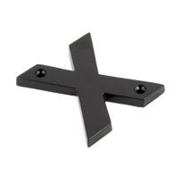 Wardlo letter X/ 78mm smeedijzer zwart