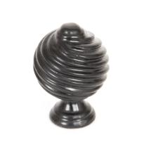 Wardlo meubelknop 30mm smeedijzer zwart